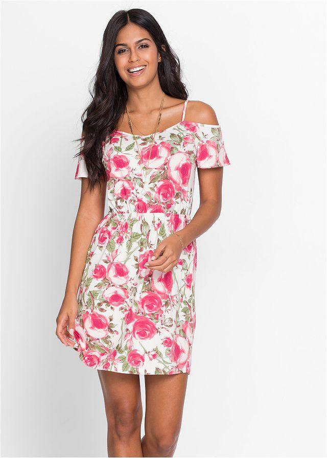 Sukienka z dżerseju z wycięciami Modna • 89.99 zł • bonprix