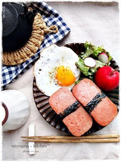 スパムおにぎりで朝ごはん。 by おがわひろこさん | レシピブログ ...