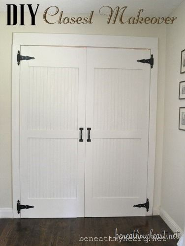 DIY Closet makeover for Mud Room Visit & Like our Facebook page! https://www.facebook.com/pages/Rustic-Farmhouse-Decor/636679889706127