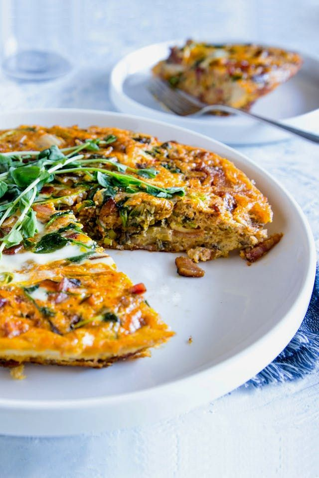 Bacon and Kimchi Fried Rice Frittata