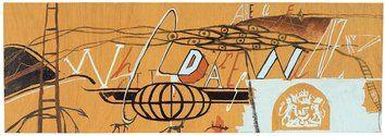 Hemi Macgregor, Who dares WINZ  2000,  acrylic on board,  150 x 435mm.  Courtesy of Te Huia Kaimanawa Wesling Macgregor