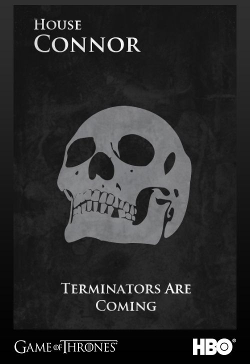 "Sarah and John Connor from the Terminator franchise. | Community Post: 26 ""Game Of Thrones"" Sigils For Famous Fictional Characters"
