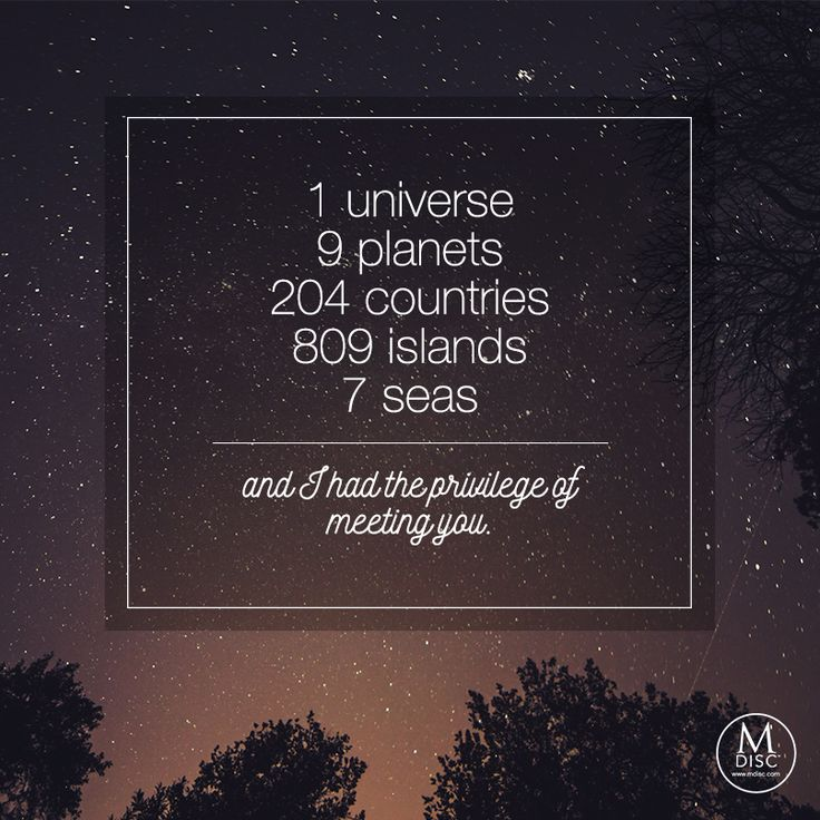 """""""1 universe, 9 planets, 204 countries, 809 islands, 7 seas, and I had the…"""