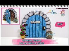 Puerta de ratón Pérez de goma eva. Imitar piedra y madera con pirógrafo en foamy. - YouTube