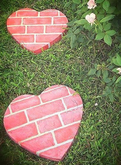 Fun Diy Heart Shaped Stepping Stones Flagstone Paving Longsight Nursery Ribble Valley
