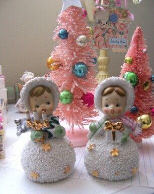Vintage Christmas Figurines by saturdayfinds, via Flickr