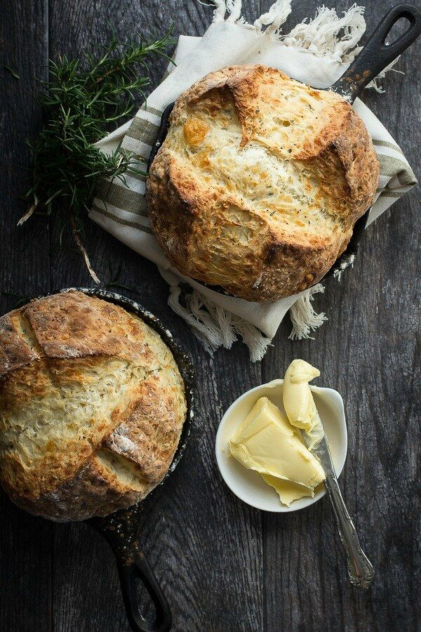 Rosemary Cheddar Irish Soda Bread via @foodnessg