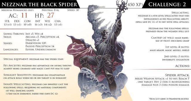 Nezznar, the Black Spider by Almega-3   monster cards   Monster