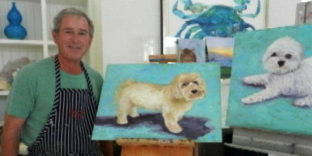 George W. Bush Painted A Cat And The Internet Is Excited About It | The Huffington Post