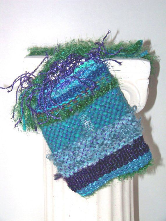 Hand Woven Multi Blue Cellphone Bag by raven333 on Etsy, $15.00