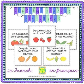 French Fruits & Vegetables - Emergent Readers - 5 Mini-Books - français