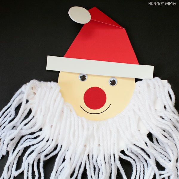Santa beard craft to make with paper plate this Christmas