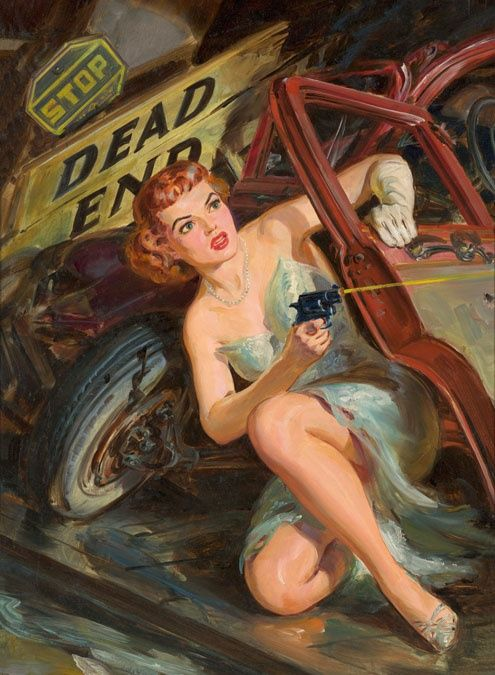 Norman Saunders Vintage Pulp Art Illustration | Female-Centric Pulp Art | Sugary.Sweet | #Pulp #Art #Illustration