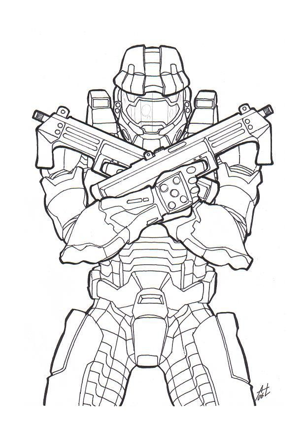 Master Chief By Https Www Deviantart Com Deadcamper On Deviantart Halo Drawings Halo Tattoo Halo Master Chief