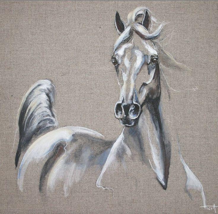Cheval tableau peinture recherche google chevaux arabes pinterest - Tableau de cheval ...