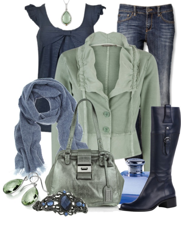 """""""Green & Blue"""" by stylesbyjoey on Polyvore"""
