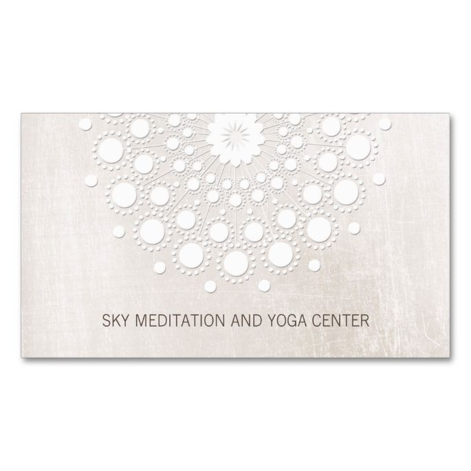 1477 best life coach business cards images on pinterest business white lotus mandala yoga and meditation instructor business card reheart Gallery