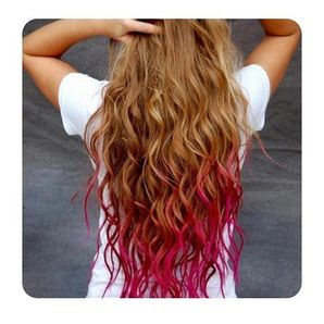 #ombre hair #long hair #red hair @bloomdotcom