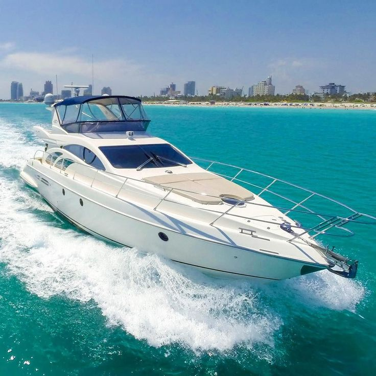 The 50ft Azimut gliding through Miami's blue waters #topyachts by top_yachts