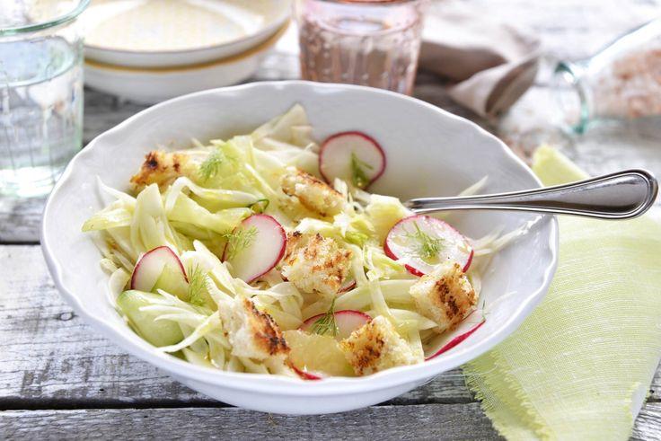 fennel, cucumber radish salad