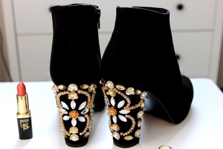 DIY Dolce & Gabbana Embellished Boots | Jodie Caughey
