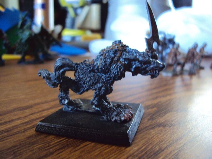 Werewolf figure that I painted.