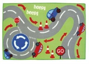 DESIGNER MAT FOR CHILDREN-BEDROOM OR PLAYROOM/FLOOR RUG/ANTI SLIP- CARS/ROAD