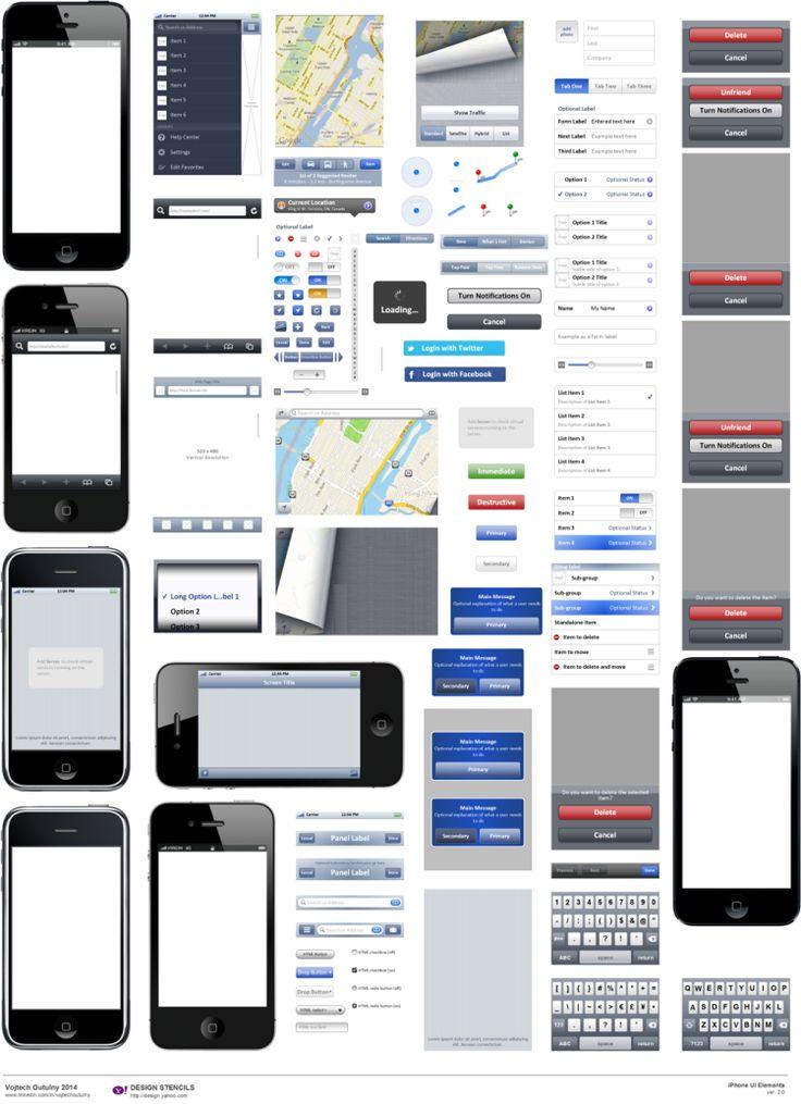 iPhone Visio Stencil 2.0 (Yahoo) UX/UI Designer, Note