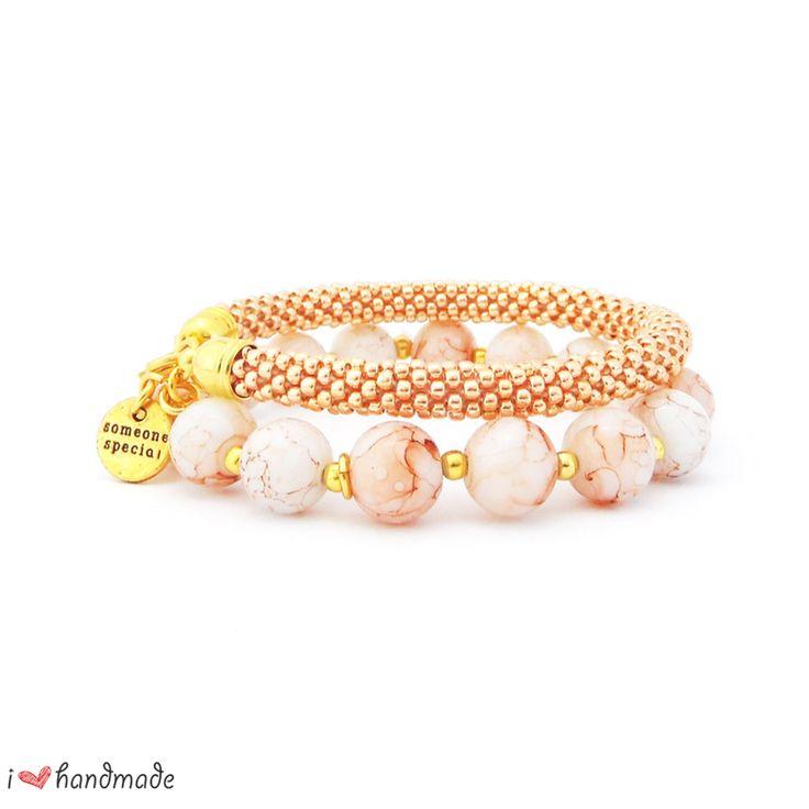 "Bracelet Set ""Roma"" Handmade bracelet made of Toho Beads Bead Crochet Technique. #beading #beadwork #beadcrochet #jewellery #jewelry #handmade"