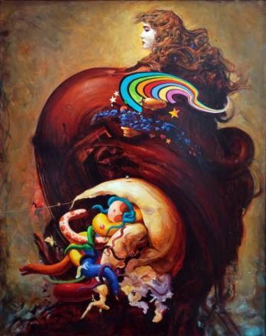 "Saatchi Art Artist Robert Szczebiot; Painting, ""Singularity"" #art"
