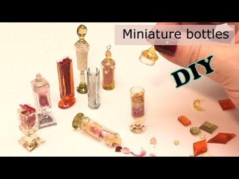 Miniature bottles and charms- Resin- DIY- tutorial - YouTube
