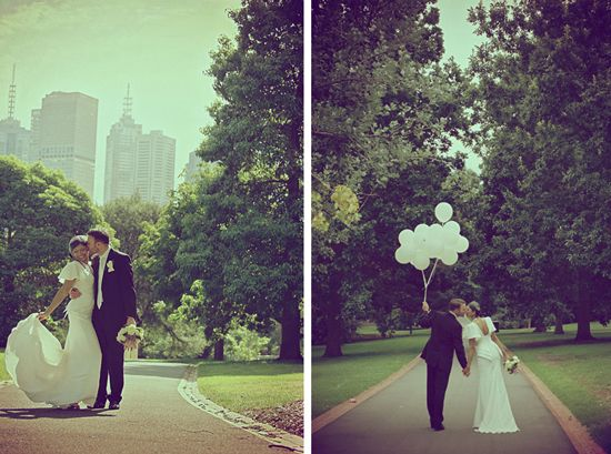 Balloons make a cool photo accessory