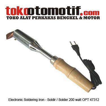 Kode : 06067010749 Nama : Soldering Iron 200 watt Merk : OPT Tipe : 74312 Status : Siap Berat Kirim : 1 Kg