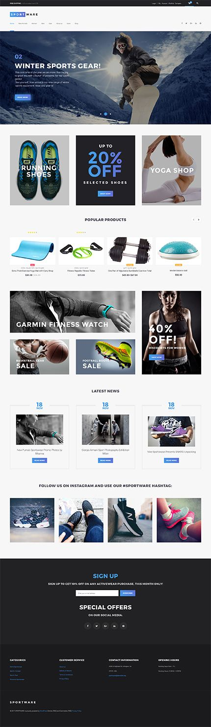 Sportware Online Store #WooCommerce #template. #themes #business #responsive #WooCommercethemes
