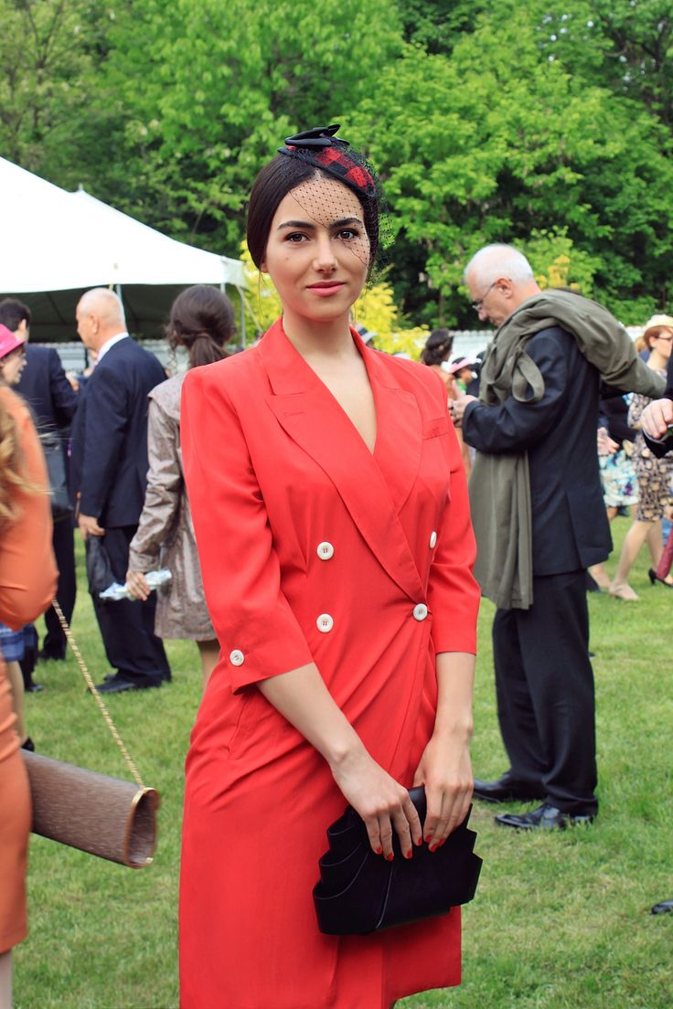 The annual Royal Garden Party held on the 10th of May at Elisabeta Palace in Bucharest.  Wearing H&M headpiece and vintage Jil Sander rebemanteau. bit.ly/1sk0ah0