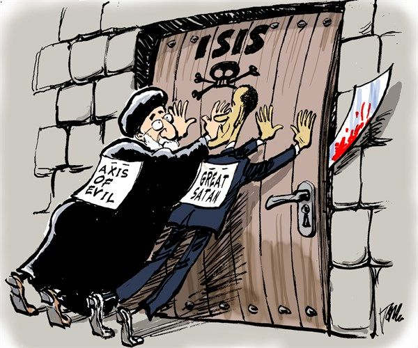 USA and Iran and ISIS - Tom Janssen is a Dutch editorial cartoonist, working for the Dutch national daily Trouw and the Netherlands Press Association.