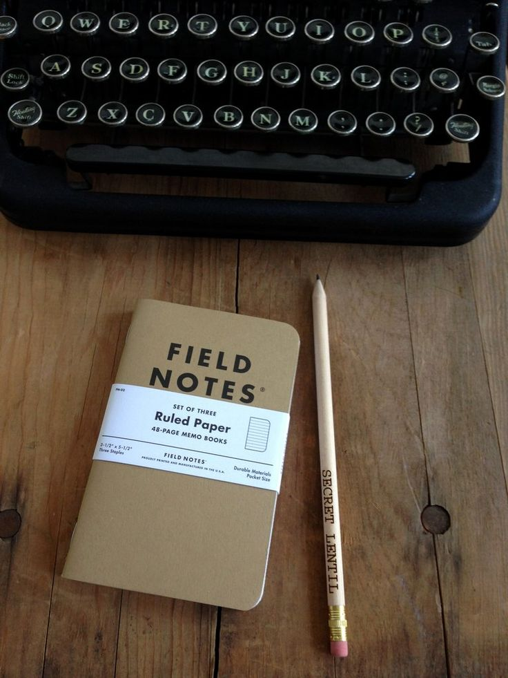 Field Notes notebooks from Secret Lentil - for top secrets, sad poems, fleeting thoughts, bullet journaling or any kind of oldschool pen on paper action