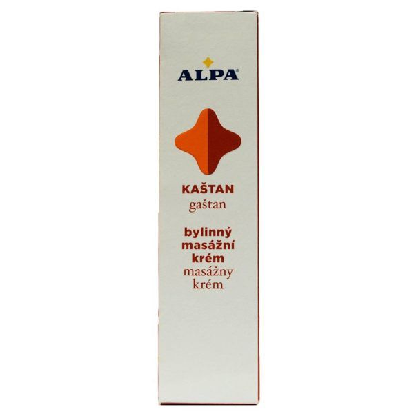 Alpa Czech Massage Cream 40g Chestnut Healthy Vascular System Relieves Muscles (1 PACK)