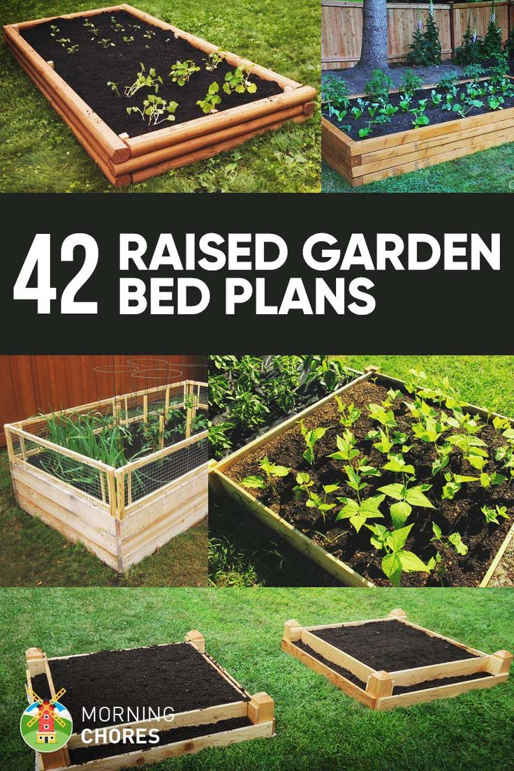 42 diy raised garden bed plans ideas you can build in a day raised garden bed plans bed plans and raising - Diy Garden Ideas