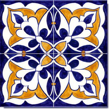 Spanish Designs on Hand Painted Ceramic Tiles