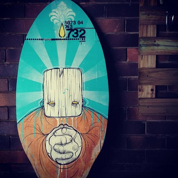 """""""Disposed skimboard"""" by M-lon [Read the article about the Art Studio in Australia]"""