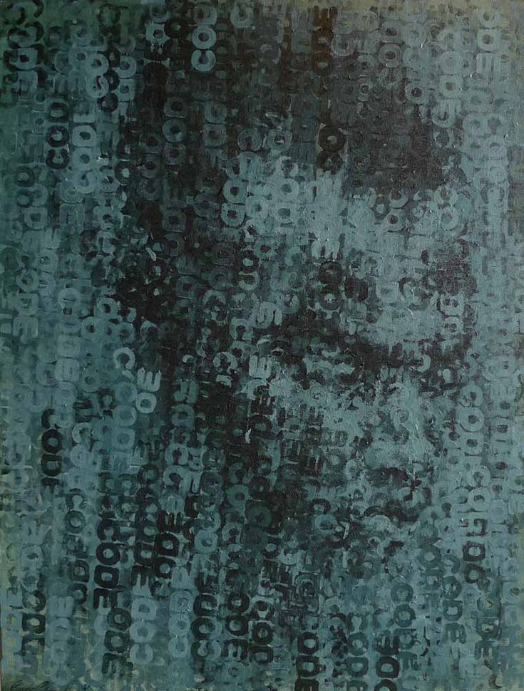 New work to the gallery: Binary Visage: Code III by Claude Chandler.