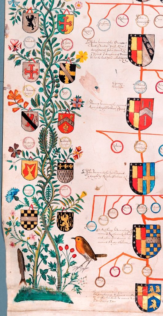 College 0f Arms MS Schedule 13/7 border detail roll created for the Heveningham family in 1509 (MS 13/7)