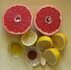 Limpieza de hígado y vesícula biliar con pomelo, limón, ajo, aceite de oliva y cayena.