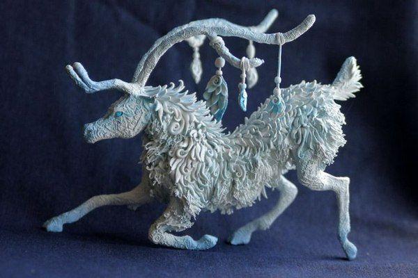 Животные в стиле фэнтези от русского мастера фэнтези, животные, Евгений Хонтор, полимерная глина, длиннопост