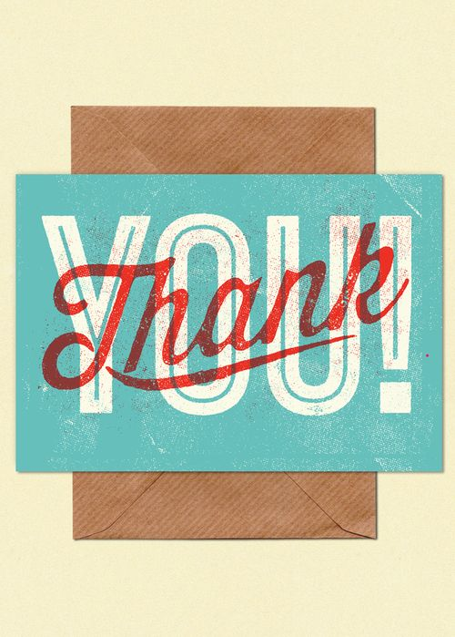 Postcard Design Ideas design inspiration Postcard Design Type Illustration Vintage Retro Thank You