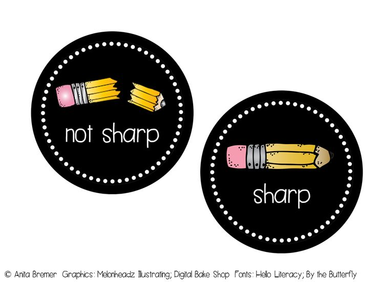 {FREE} Pencil Container Labels {includes cursive and printed options & two sizes}