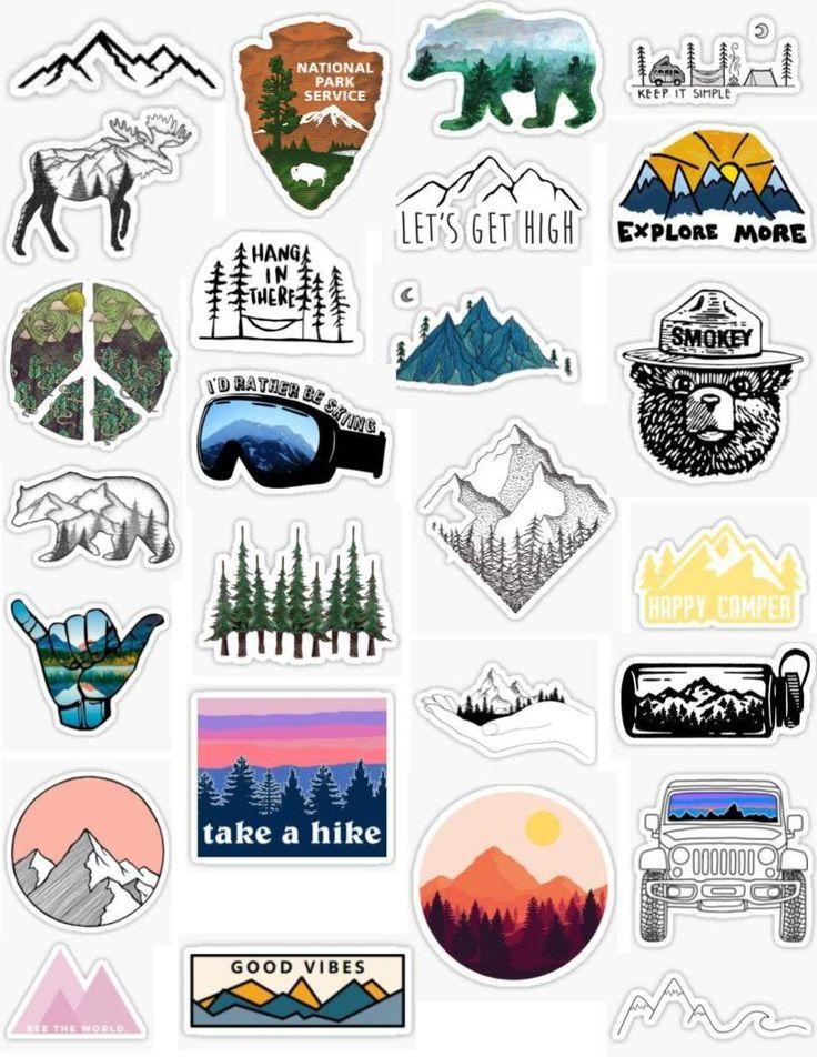 Mountain stickers - Laptop - Ideas of Laptop #laptop
