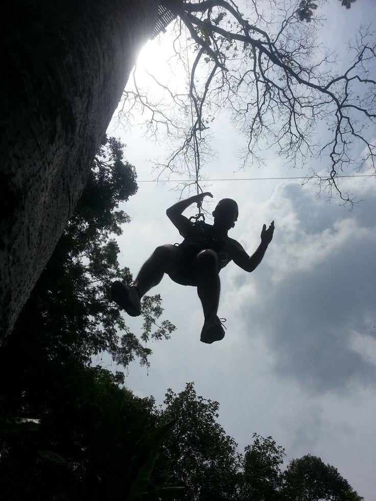 Ziplining throught the Thai forest at The Flying Hanuman in Phuket.