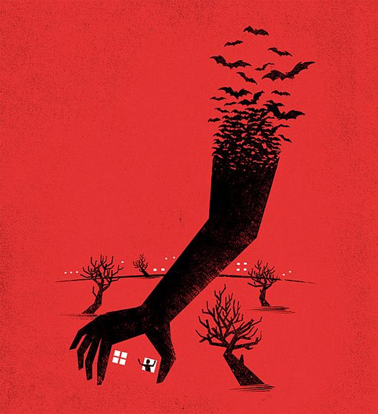 Negative Space Illustrations by Tang Yau Hoong – I was just watching The Birds a